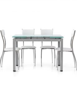 art.607 - Tavolo con piano vetro